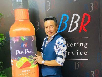圖一、法國當代BBR創辦人傅天民於時尚餐會分享Peri-Peri霹靂辣醬研發始末