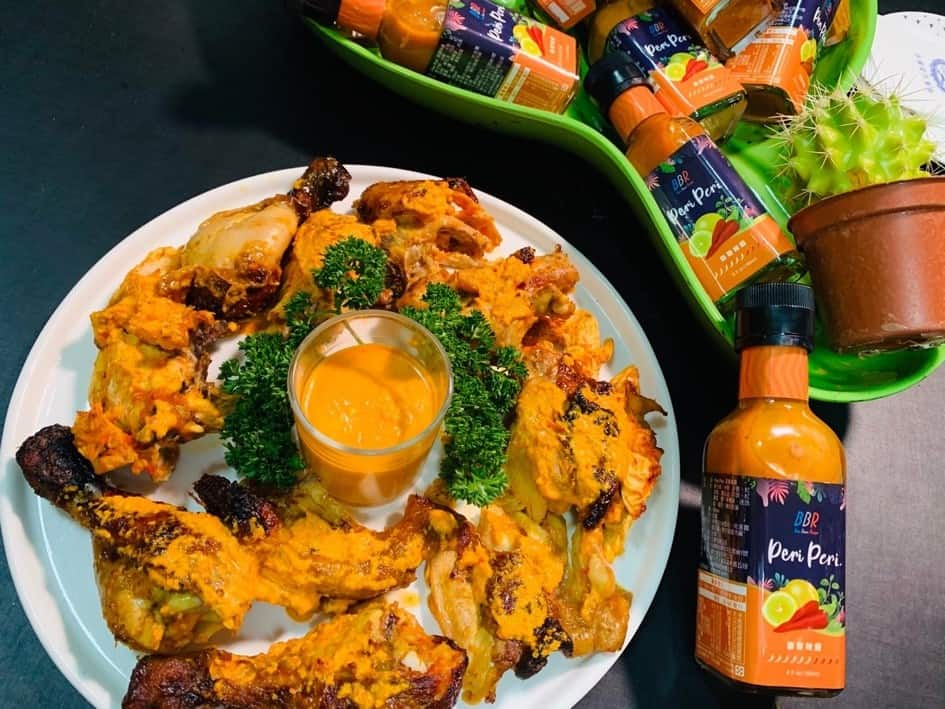 圖三、法國當代推出的Peri-Peri霹靂辣醬搭配肉類,讓賓客大讚美味