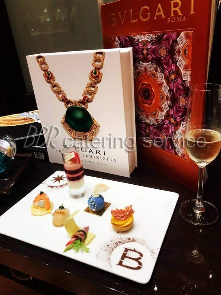 圖三、法國當代為珠寶品牌BVLGARI的VVIP特製的餐點